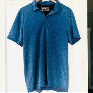 Eddie Bauer Active Men's Golf Polo Shirt Blue M